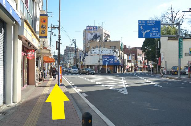 JR横須賀線逗子駅からのアクセス④